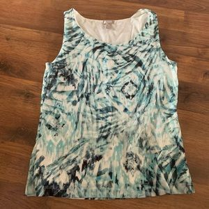 🍎 Chico's shirt women's size 1 small tank top